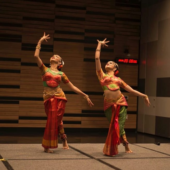 Dancing to the beat. Photo Credits: SMU Indian Cultural society Facebook Page