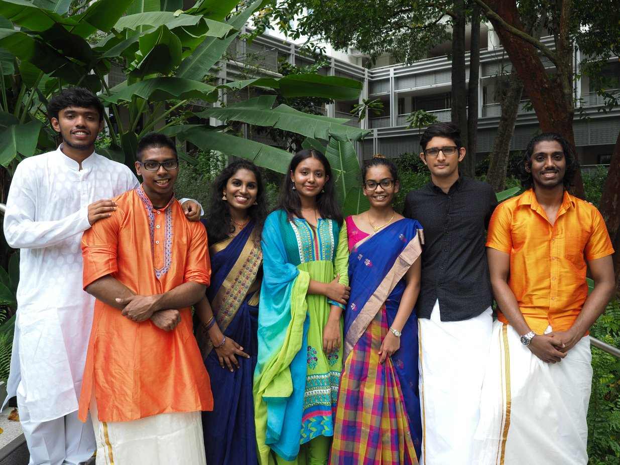 A few Indian students from NUS. Photo Credits: NUS Indian Society Facebook page