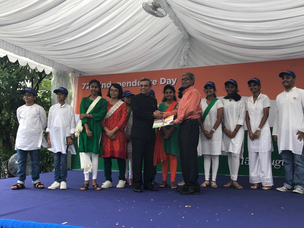 Cultural performances by enthusiastic students of Indian schools, cheered by more than 800 people attending the flag hoisting ceremony on a working day in Singapore