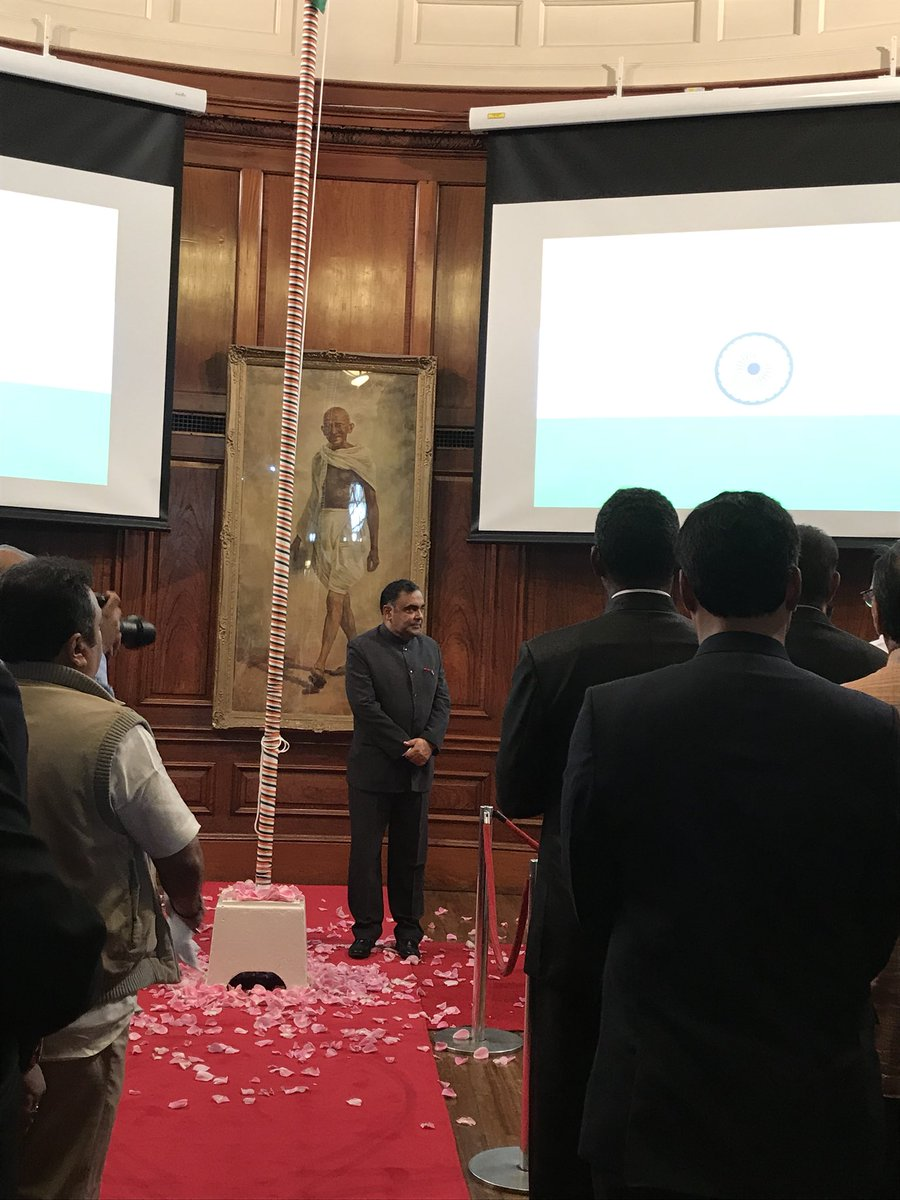 India's independent day celebrations at India House by H.E. Shri Y.K. Sinha @IndiaTourismUK
