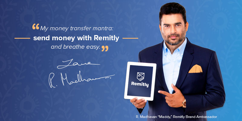 Tamil and Bollywood actor has signed on as Remitly Brand Ambassador. Photo courtesy: Remitly