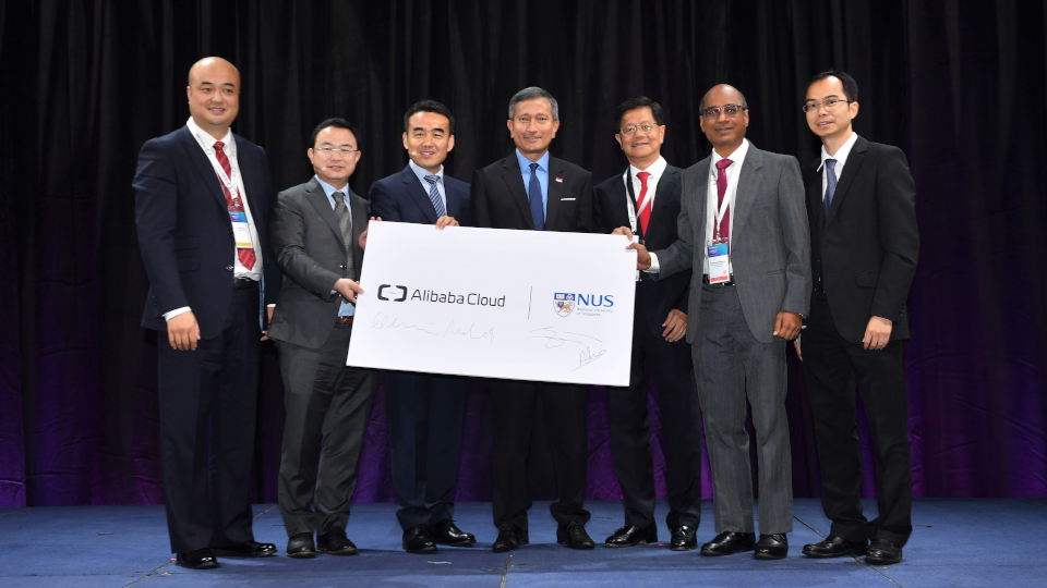 NUS and Alibaba Cloud jointly launched a programme to nurture future talents in the areas of big data, cloud computing, business analytics and artificial intelligence. Photo courtesy: Alibaba Cloud