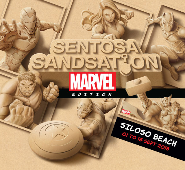 Sentosa will also be holding Southeast Asia's largest sand festival, 'Sentosa Sandsation: Marvel Edition', in September during the school holidays.