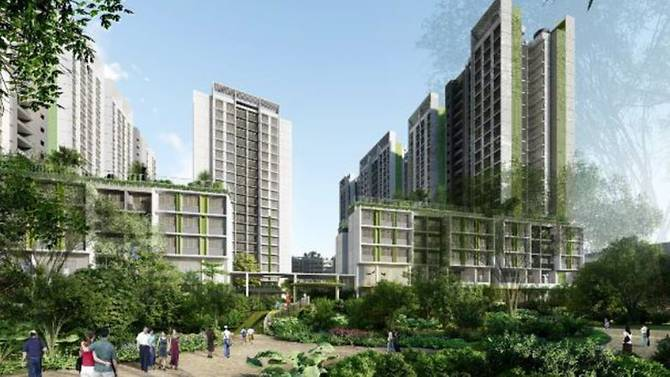 An artist's impression of Punggol Point Woods. It will have six blocks with 940 units. Photo courtesy: HDB