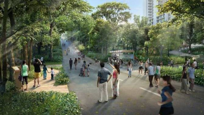 An artist's impression on the 'Heritage Trail' in Punggol. Photo courtesy: HDB
