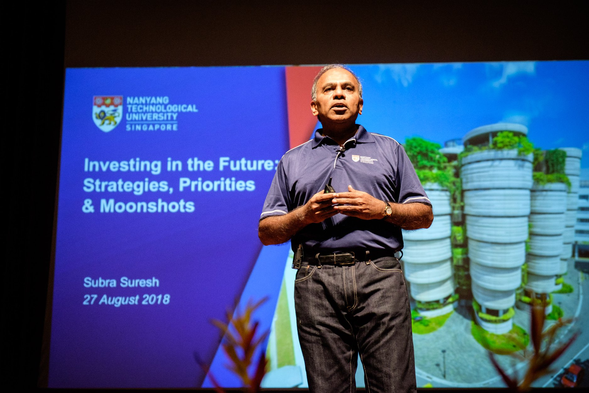 Subra Suresh, President of NTU. Photo courtesy: NTU