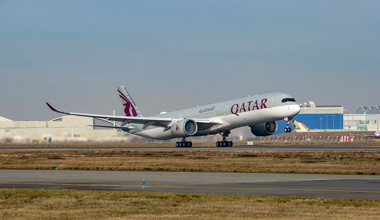 A350-1000 is the world's most technologically advanced passenger aircraft. Photo courtesy: Qatar Airways