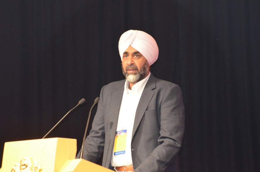 Manpreet Singh Badal, Punjab's Minister for Finance, Planning and Employment Generation speaking about the huge business opportunities in the State of Punjab. Photo: Connected to India