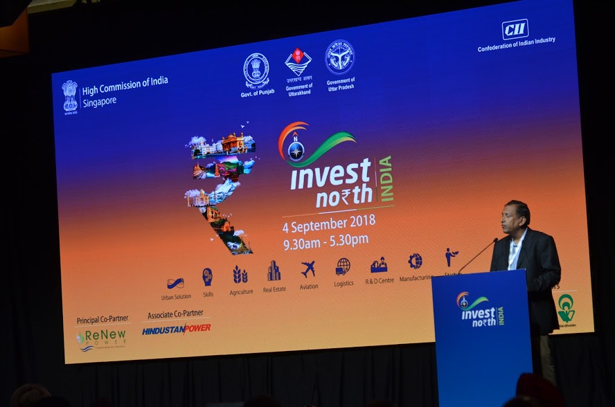 Invest North 2018 Summit was a programme organised in Singapore to showcase the business opportunities available in the northern Indian States of Uttarakhand, Punjab and Uttar Pradesh. Photo: Connected to India