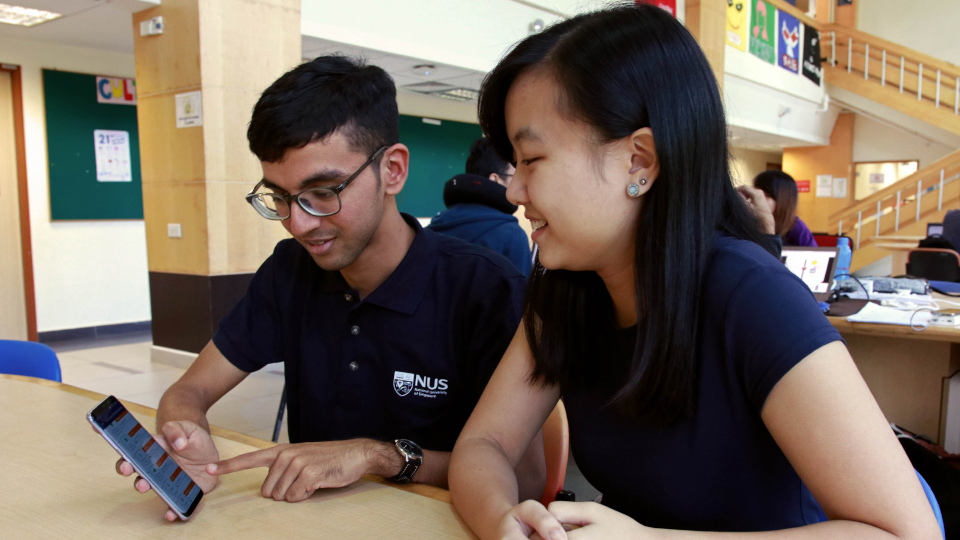 Jointly developed by NUS and JobTech, NUS career+ is a unique mobile application that provides advice to students on education planning and career selection. Photo courtesy: NUS