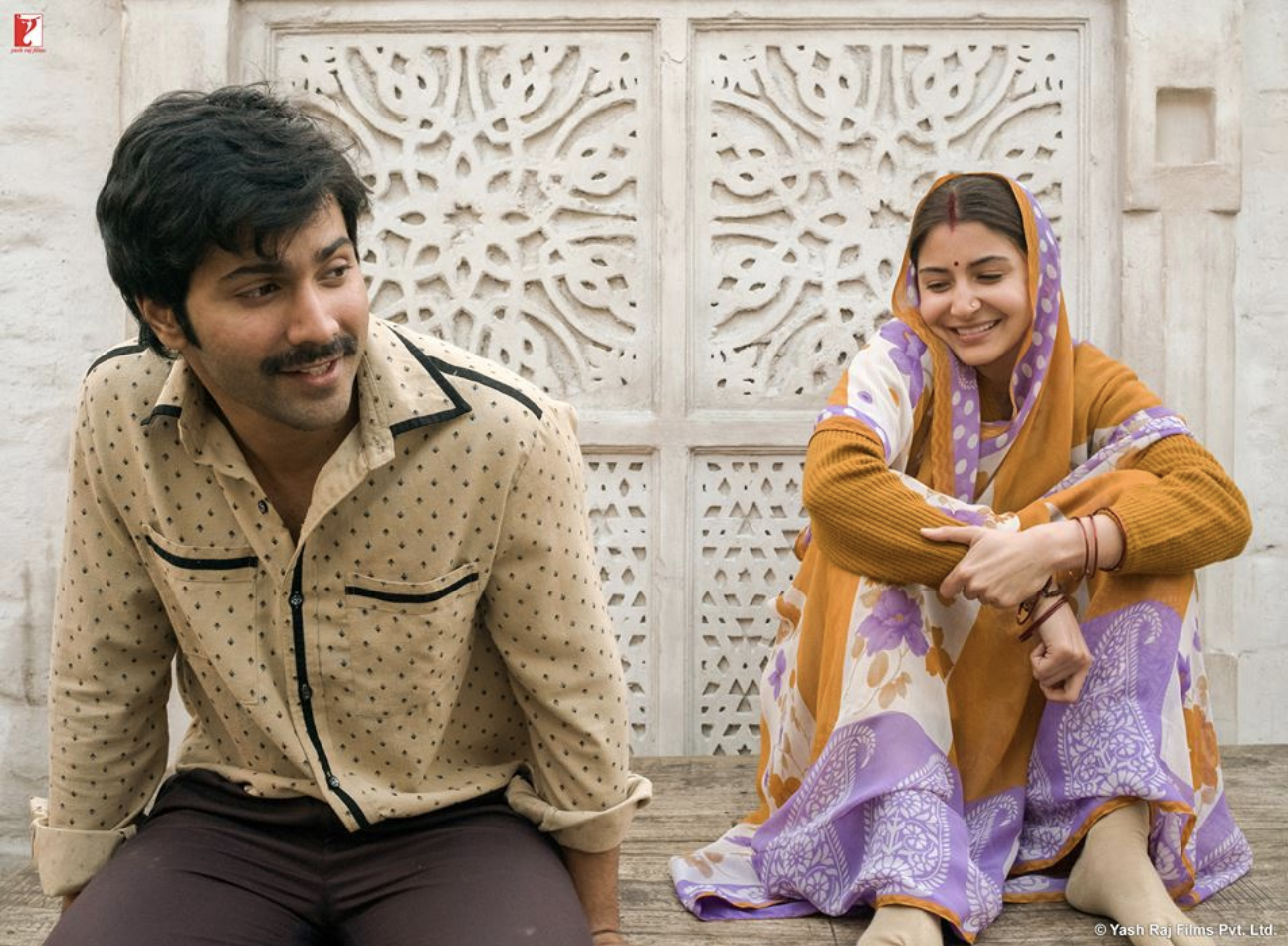 Anushka Sharma as Mamta in a de-glam avatar and Varun Dhawan as Mauji in a still from the movies #SuiDhaaga Photo courtesy: YRF
