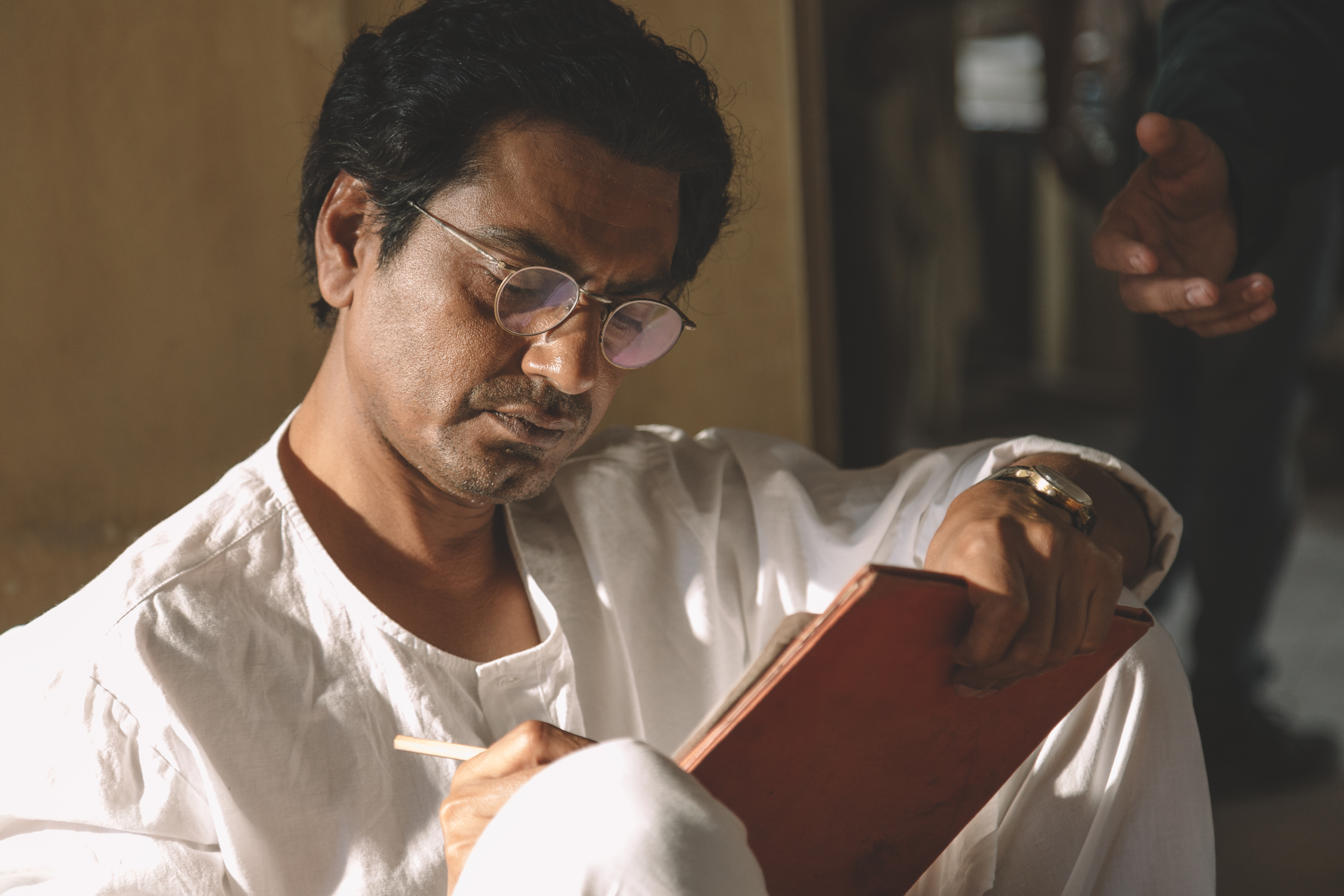 Nawazuddin Siddiqi, immersed in his role as Sadat Hassan Manto. Photo courtesy: Viacom 18