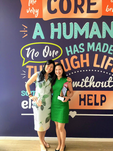 Emily Teng, Founder,  Blessings in a Bag (right) along with Melissa Kwee, CEO of National Volunteer & Philanthropy Centre. Photo: Connected to India
