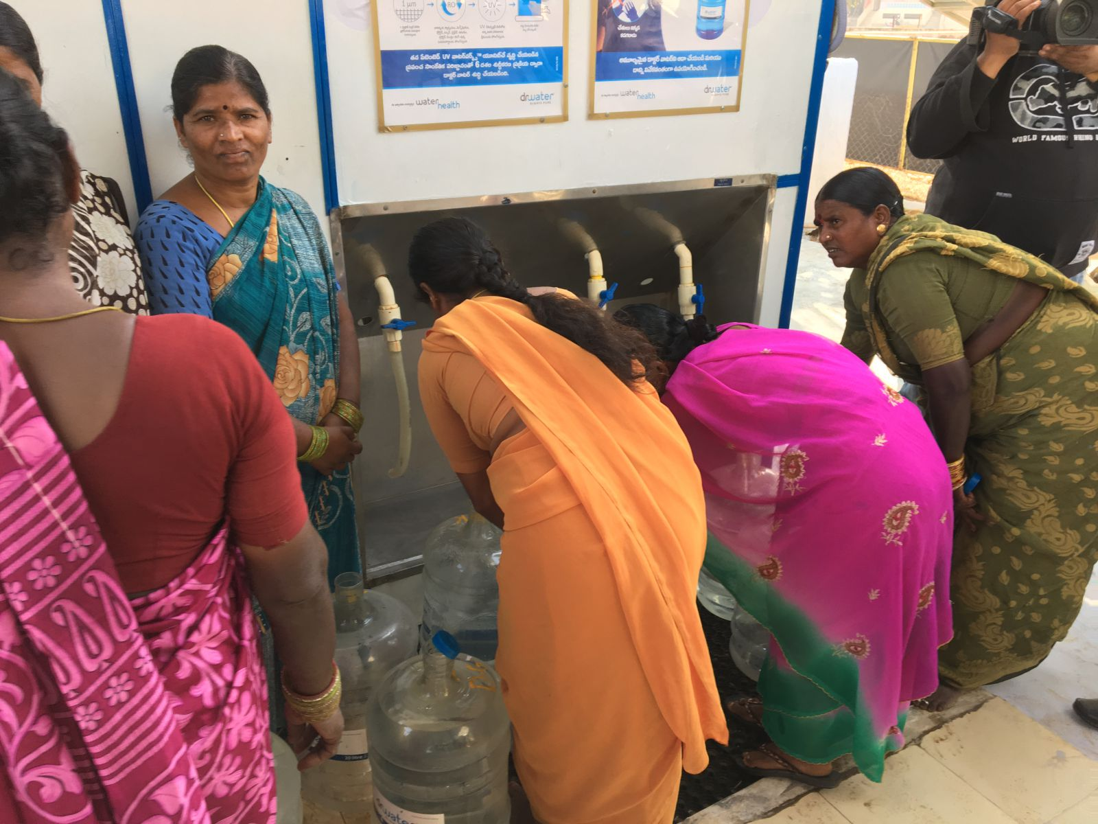 OPIC also funds a project involving women to provide affordable clean drinking water to low and middle-income peoplein India, at a price 1/3rd of bottled water through WaterHealth Vending Machines(WVM) are installed at railway stations, bus stations, shopping malls, public and private institutions. (Photo couortesy: OPIC
