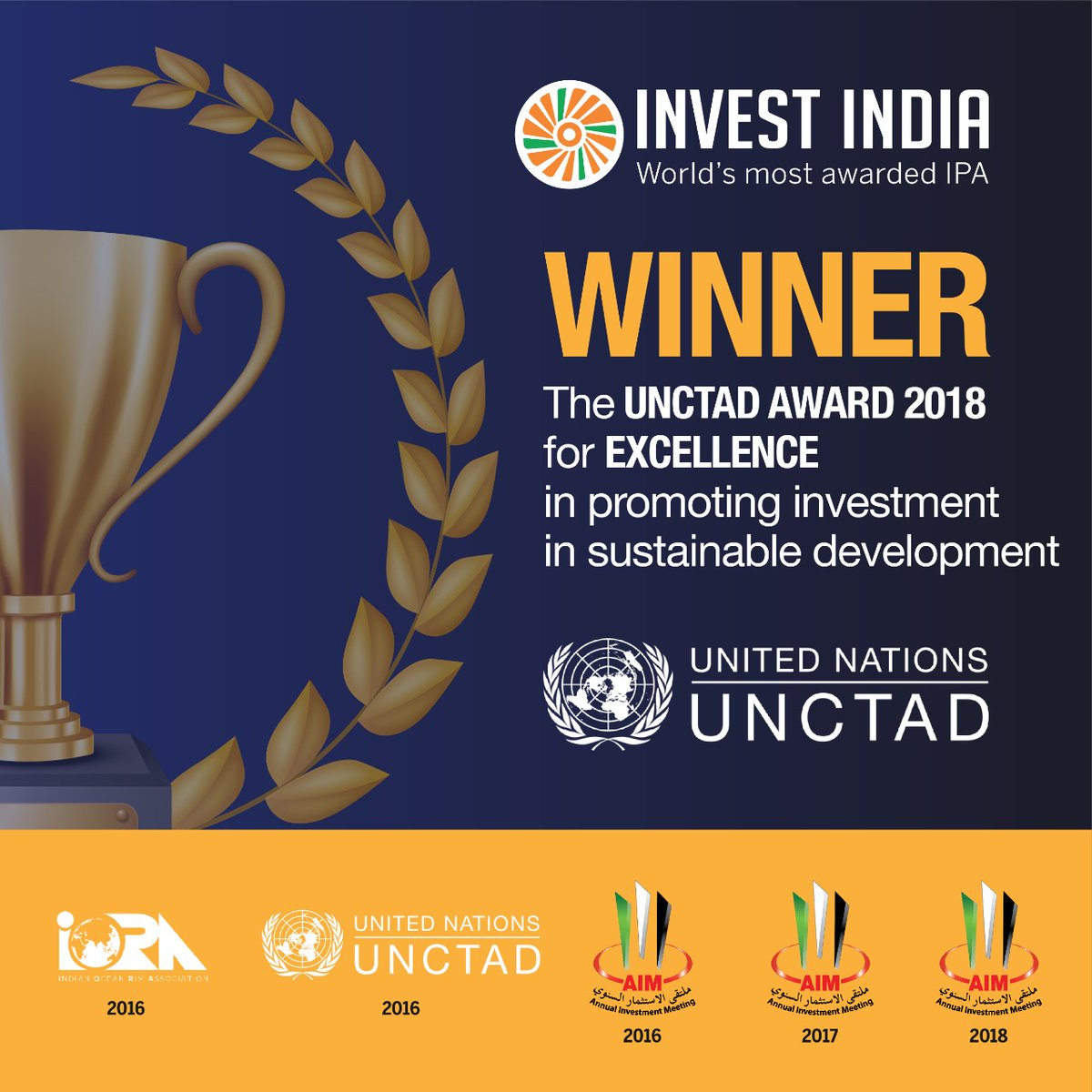 Invest India most awarded investment promotion agency in the world (Photo courtesy: Invest India, Twitter