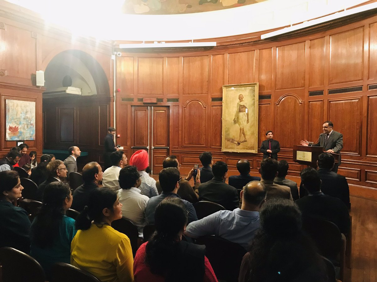High Commission to UK Y K Sinha addressing recipients of passport printed under MEA's Passport Seva Programme. (Photo courtesy: High Commission of India, London