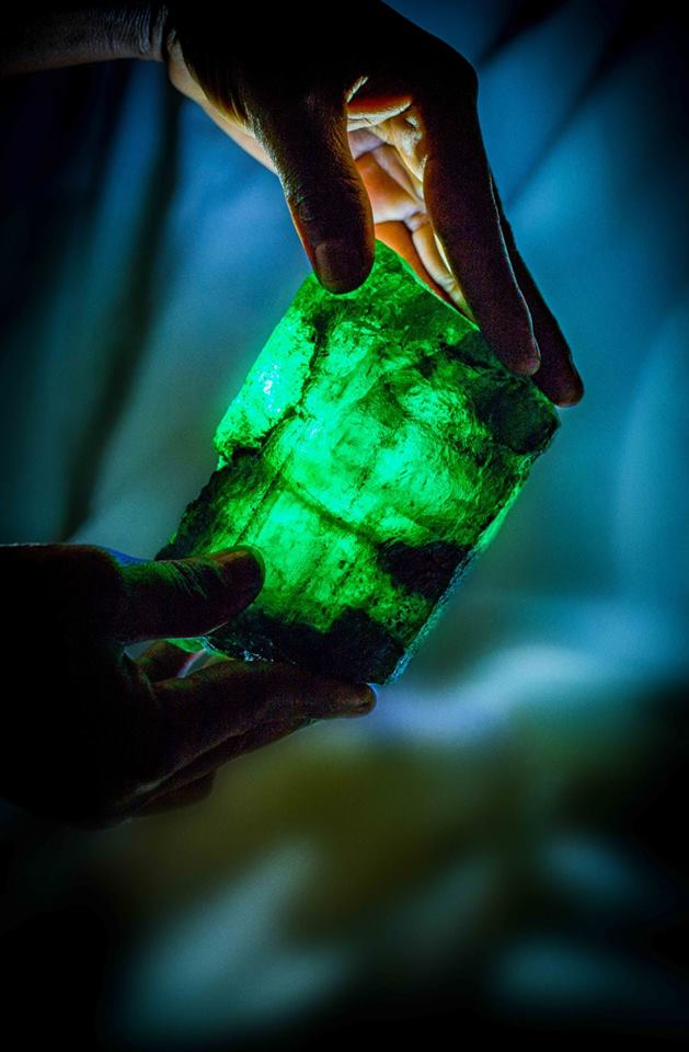 Lion Emerald was discovered at Kagem, the world's largest emerald mine. Photo courtesy: Facebook page of Gemfields