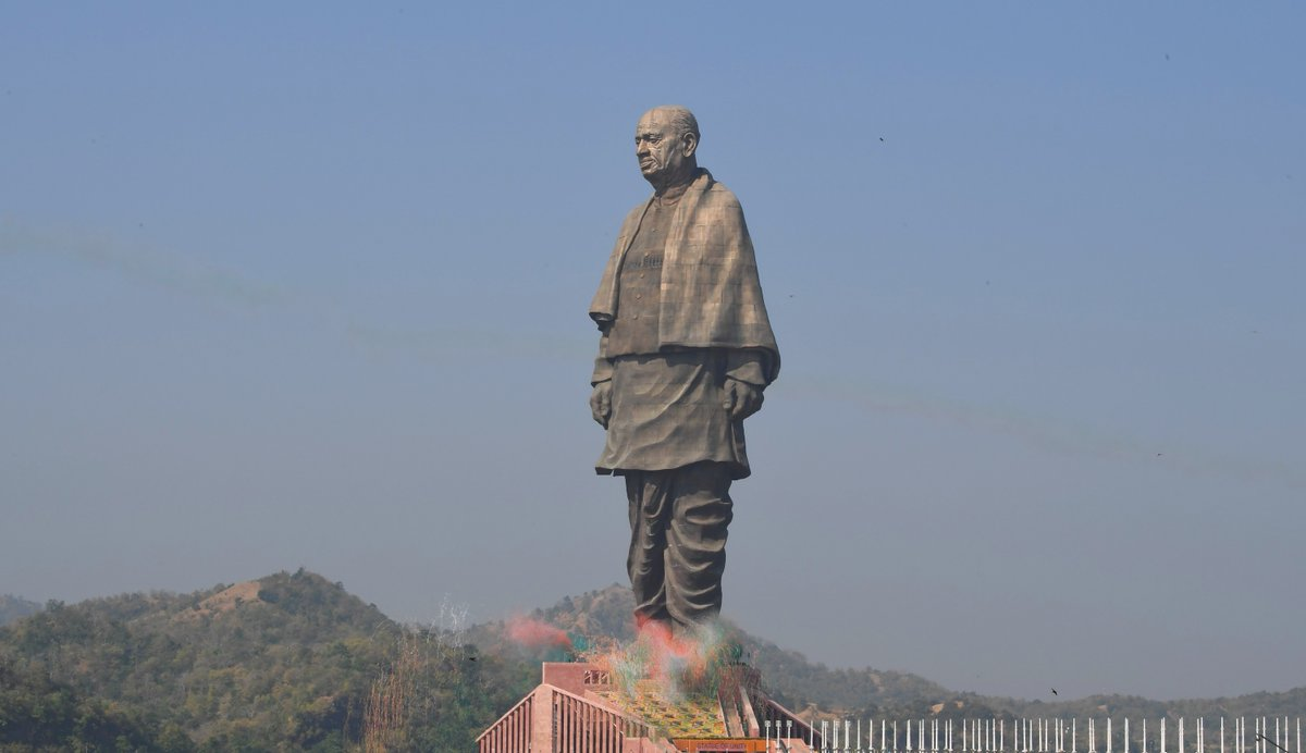 Statute of Sardar Vallabhbhai Patel in Gujarat (Photo courtesy: Narendra Modi, Twitter