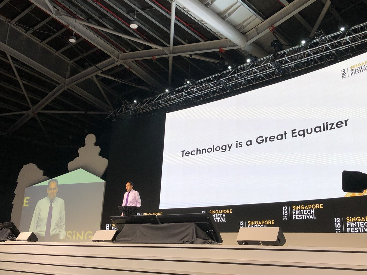 Singapore Fintech Festival started with the story of Saqib about how his passion for technology and AI was nurtured in an inclusive environment. Photo courtesy: Twitter@/MAS_sg