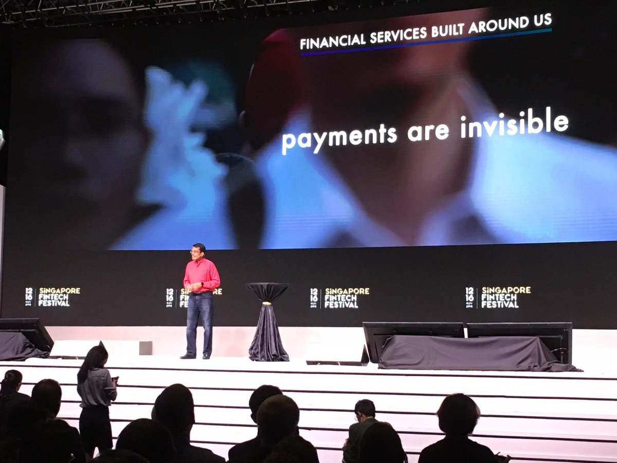 Ravi Menon, Managing Director of MAS announcing set of principles to promote Fairness, Ethics, Accountability & Transparency, or FEAT, in the use of AI and data analytics. Photo courtesy: Twitter@/sgfintechfest