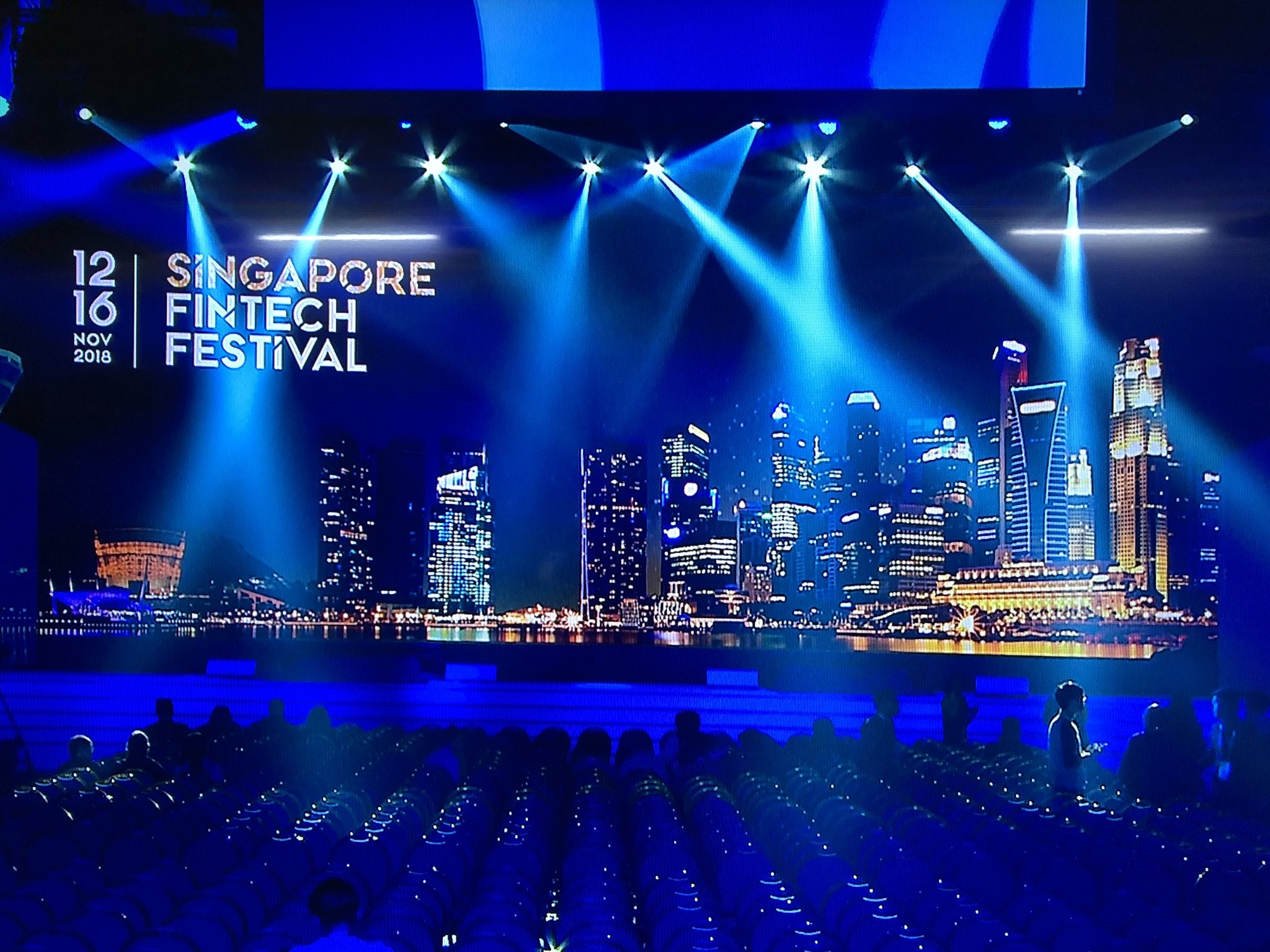 About 40,000 people from over 100 countries are expected to participate in the ongoing Singapore Fintech Festival which started today. Photo courtesy: Twitter@/sgfintechfest