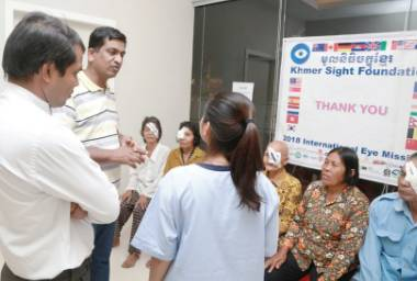 Dr Agrawal on a medical mission to Cambodia. Photo courtesy: PVPA