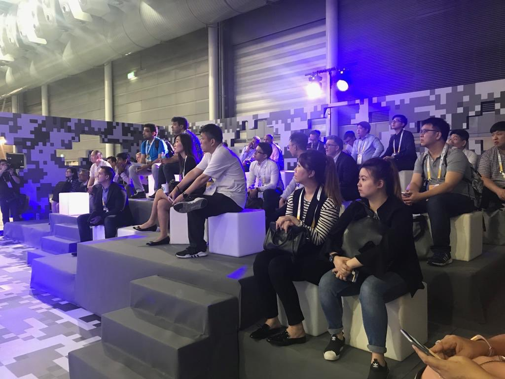 Participants attending the Singapore Fintech Festival which started today. Photo courtesy: Twitter@/sgfintechfest
