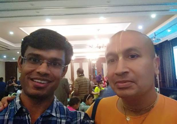 Rahul Singh with Engineer turned Monk Gauranga Das Ji