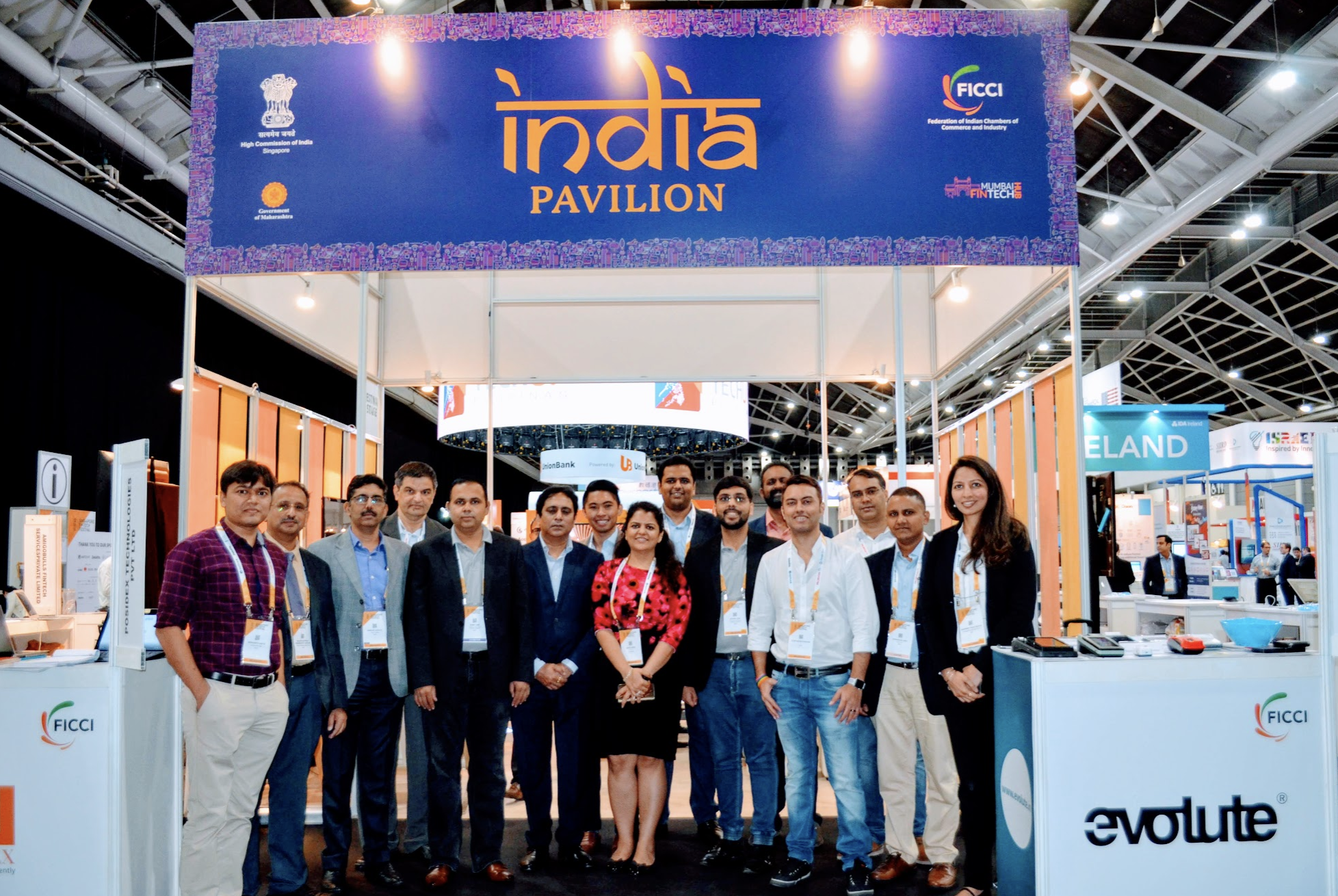 Displaying abundant enthusiasm for the Fintech sector and interest in the India-Singapore business corridor is the largest contingent from India with 400 exhibitors. India Pavilion comprising of 18 startups including Valuefy, Phocket, Happy, Posidex, Lend foundry at the India pavilion with the local Director of FICCI Navita Myer Photo: Connected to India
