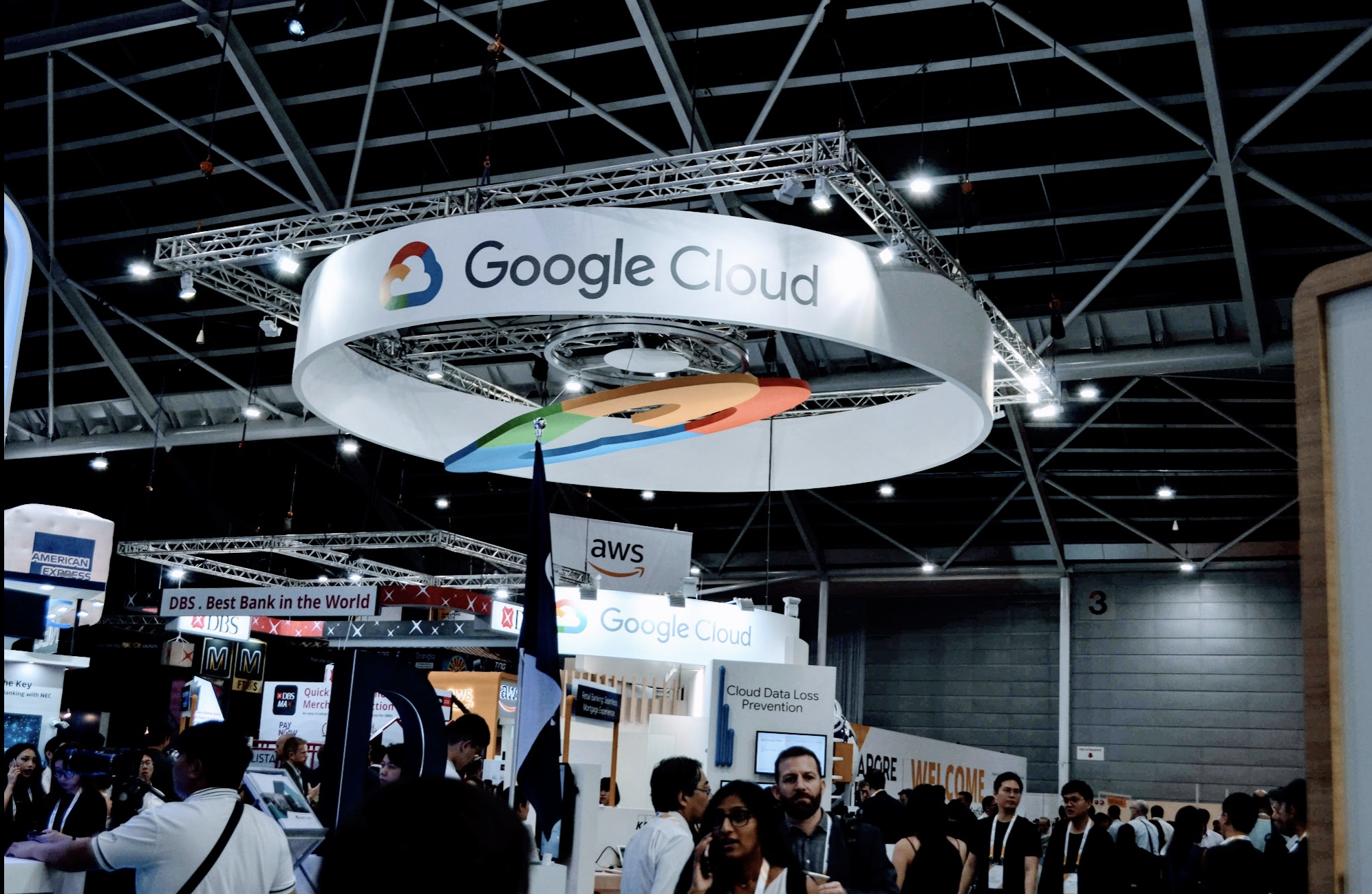 What is Google doing in a Fintech Conference? Selling Cloud services. Well you will find them in a groumet, animal husbandry, etc, etc, conferences as well. Everybody benefits from Google. Photo: Connected to India