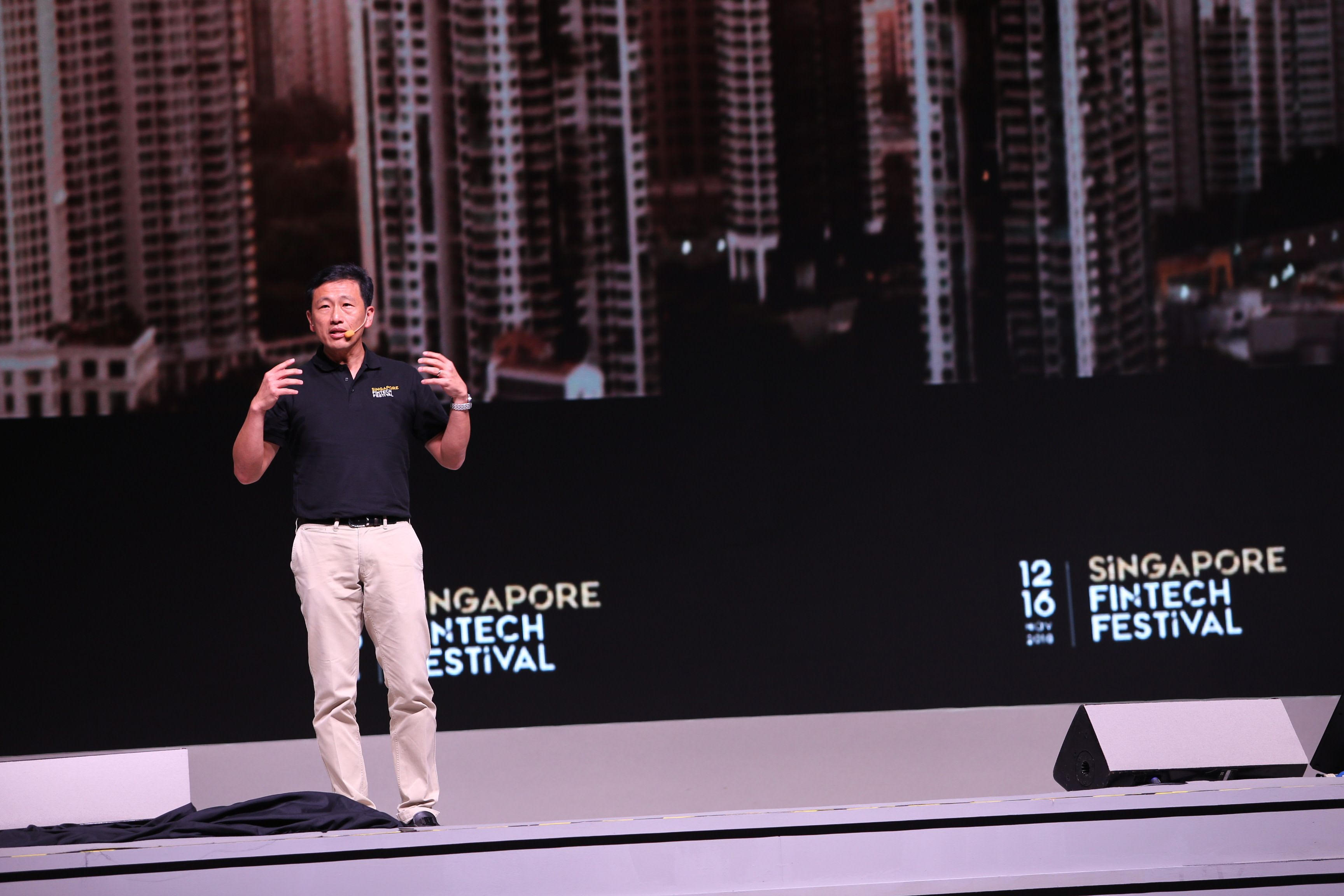 Ong Ye Kung, Education Minister and MAS board member speaking at the Singapore Fintech Festival. Photo courtesy: Singapore Fintech Festival