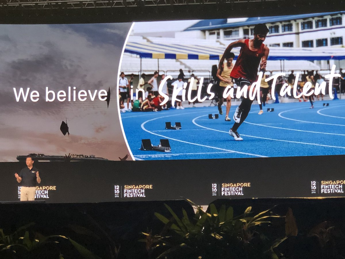 Ong Ye Kung talking about the launch of Sandbox Express - a promise of 21 days for startups to get into the sandbox. Photo courtesy: Twitter/@sgFinTechFest