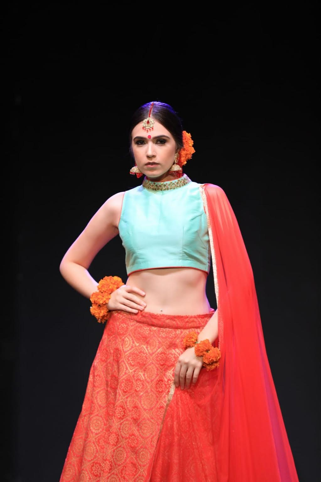 Fashion Show by OPIUM. nspired by the grand empires of the Mughals and the colours and kitsch of the Indian streets today, OPIUM by Bubbly J is an artisanal Indian fashion label based in Singapore with an international appeal. Photo courtesy: Esplanade
