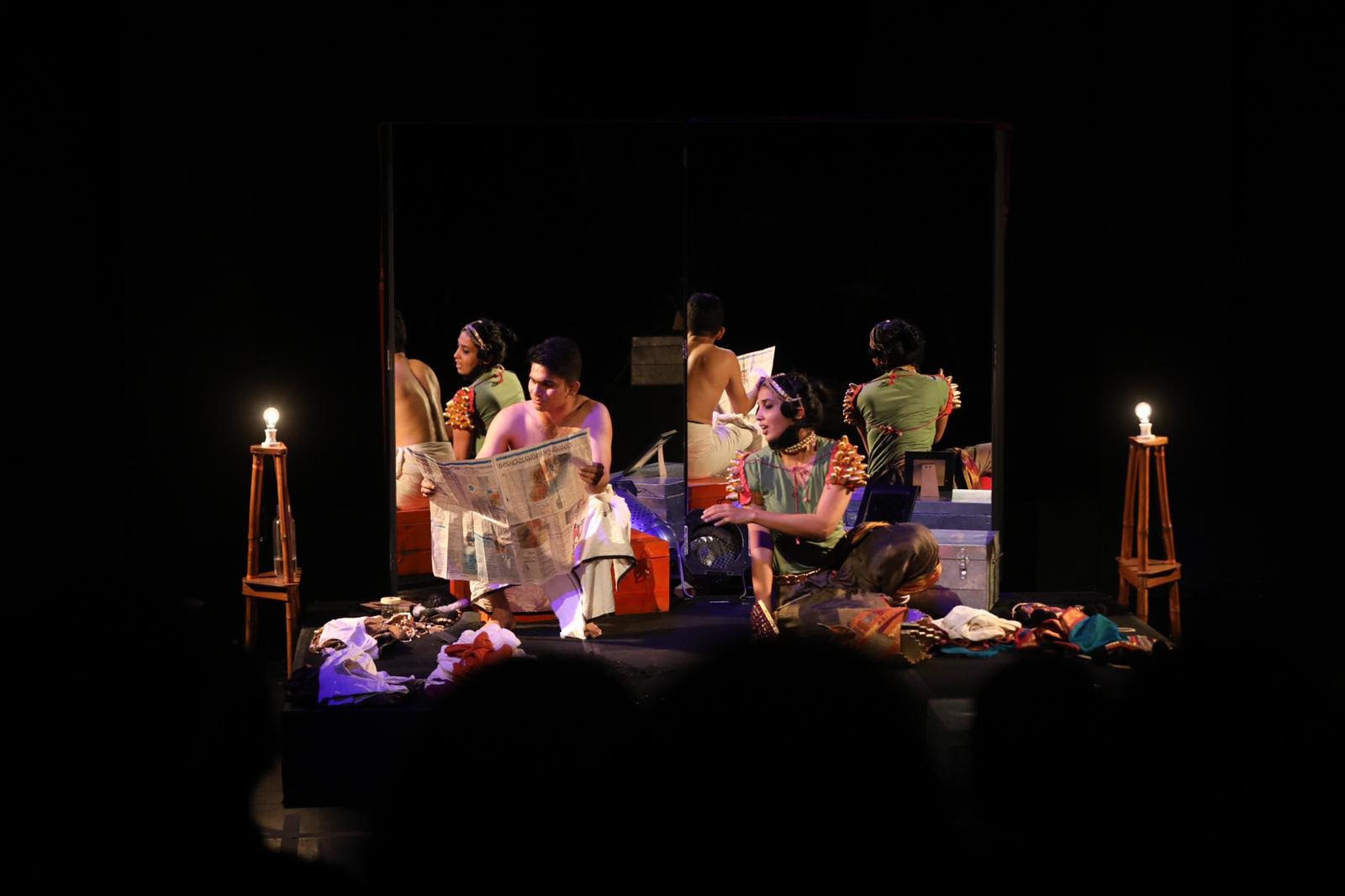 Akshayambara explores the reversal of roles in the male-dominated theatre practice, yakshagana. Photo courtesy: Esplanade
