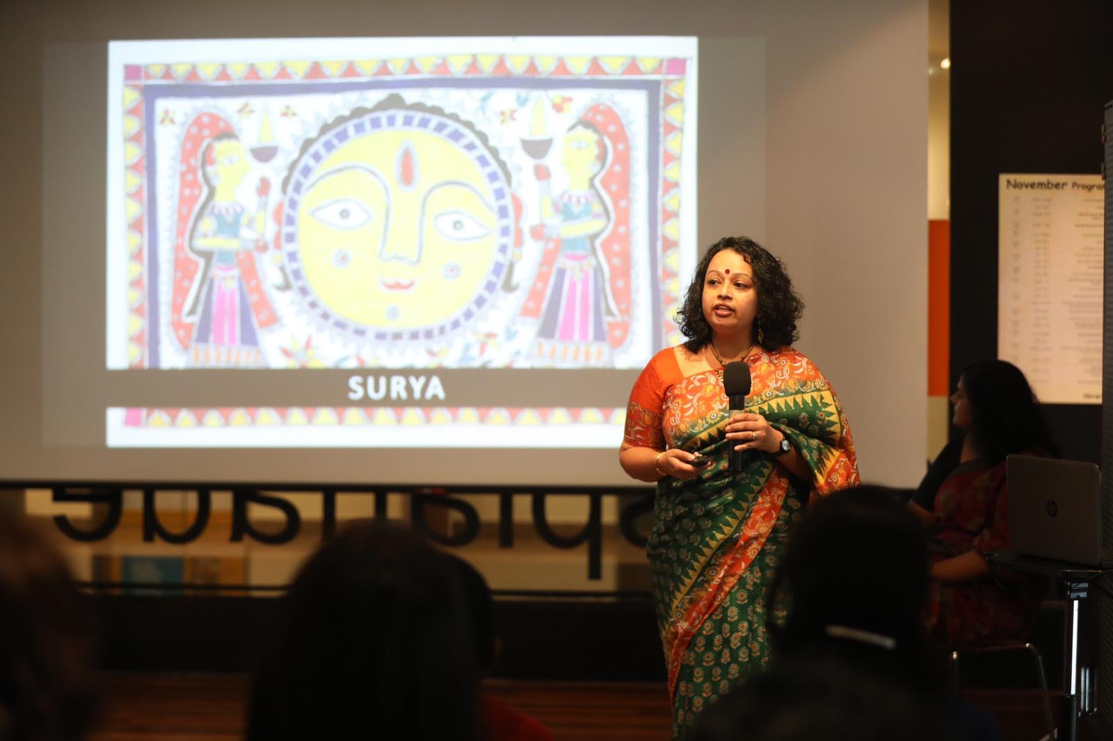 Audiences feasted their on images of the Divine from the Indian subcontinent as they learned about some of the gods in Hinduism and how they are perceived and worshipped. Photo courtesy: Esplanade