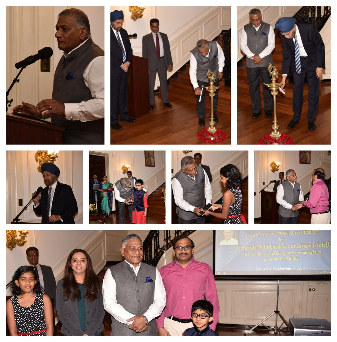 Inauguration of Passport Seva Project by Minister of State for External Affairs V K Singh ai Indian Embassy, Washington DC (Photo courtesy: Indian Embassy, Washington DC