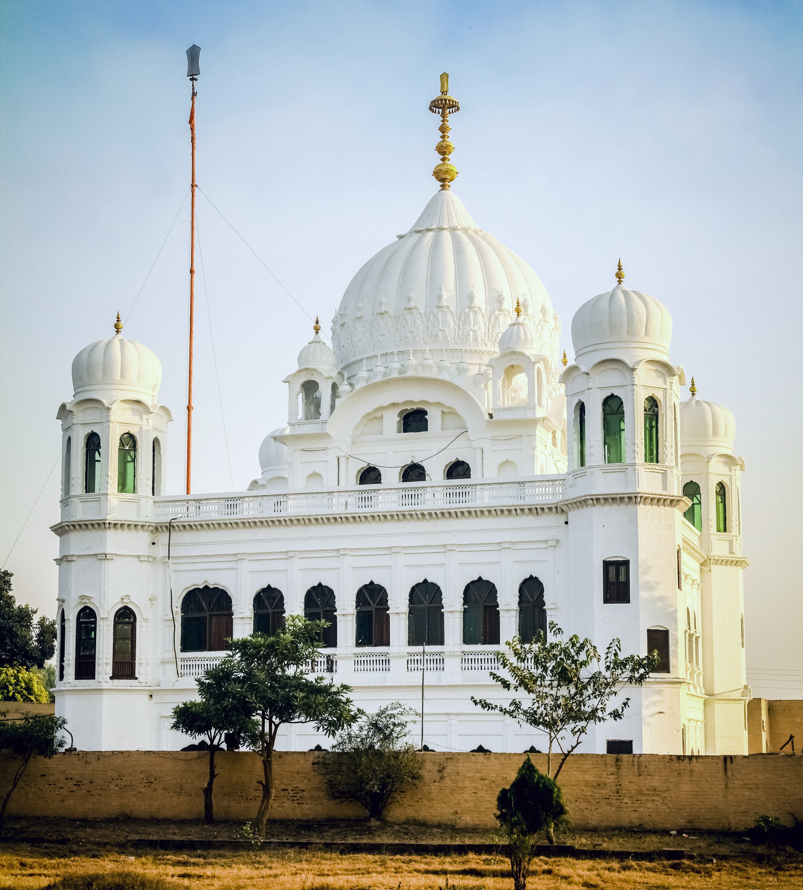 Gurdwara Darbar Sahib Kartarpur located on the banks of river Ravi in Pakistan, where Guru Nanak Devji spent eighteen years of his life spreading message of peace and brotherhood. Photo courtesy: Wikimedia