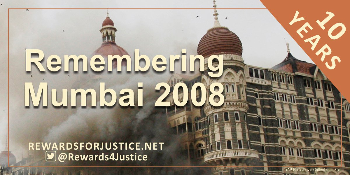 Reward of up to $5 million for information leading to the arrest or conviction in any country of any individual involved in planning or facilitating the November 2008 Mumbai attack. (Photo courtesy: Reward for Justice