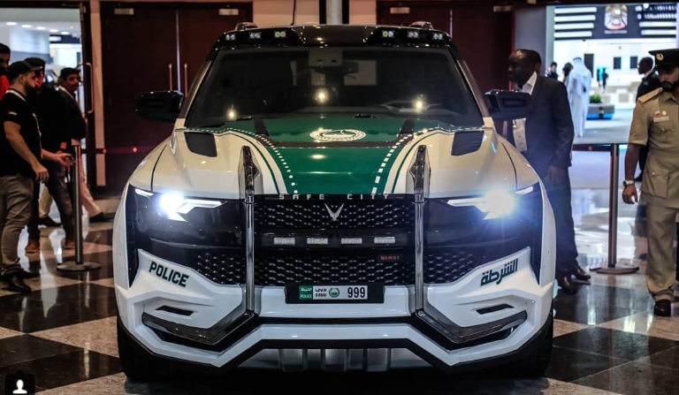 Ghiath, the latest entrant in the fleet of Dubai Police is a new high-tech vehicle which can recognise faces. Photo courtesy: Instagram page of W Motors