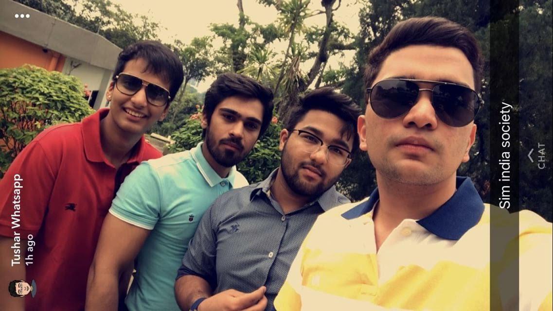 Naman with his squad. Photo courtesy: Naman Kaushal