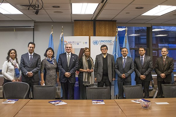 Annual Board Meeting of the India-UN Development Partnership Fund at New York. (Photo courtesy: UNOSSC