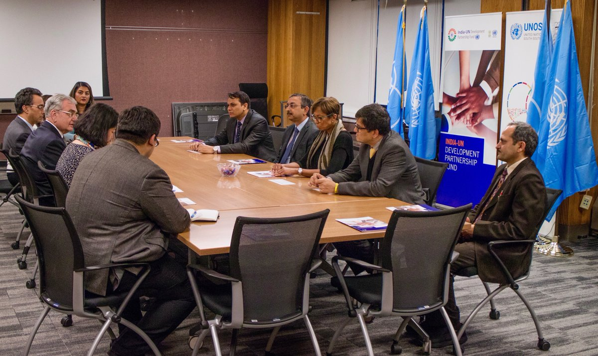 India-UN Development Partnership Fund board meeting in progress at New York (Photo courtesy: India-UN Development Partnership Fund