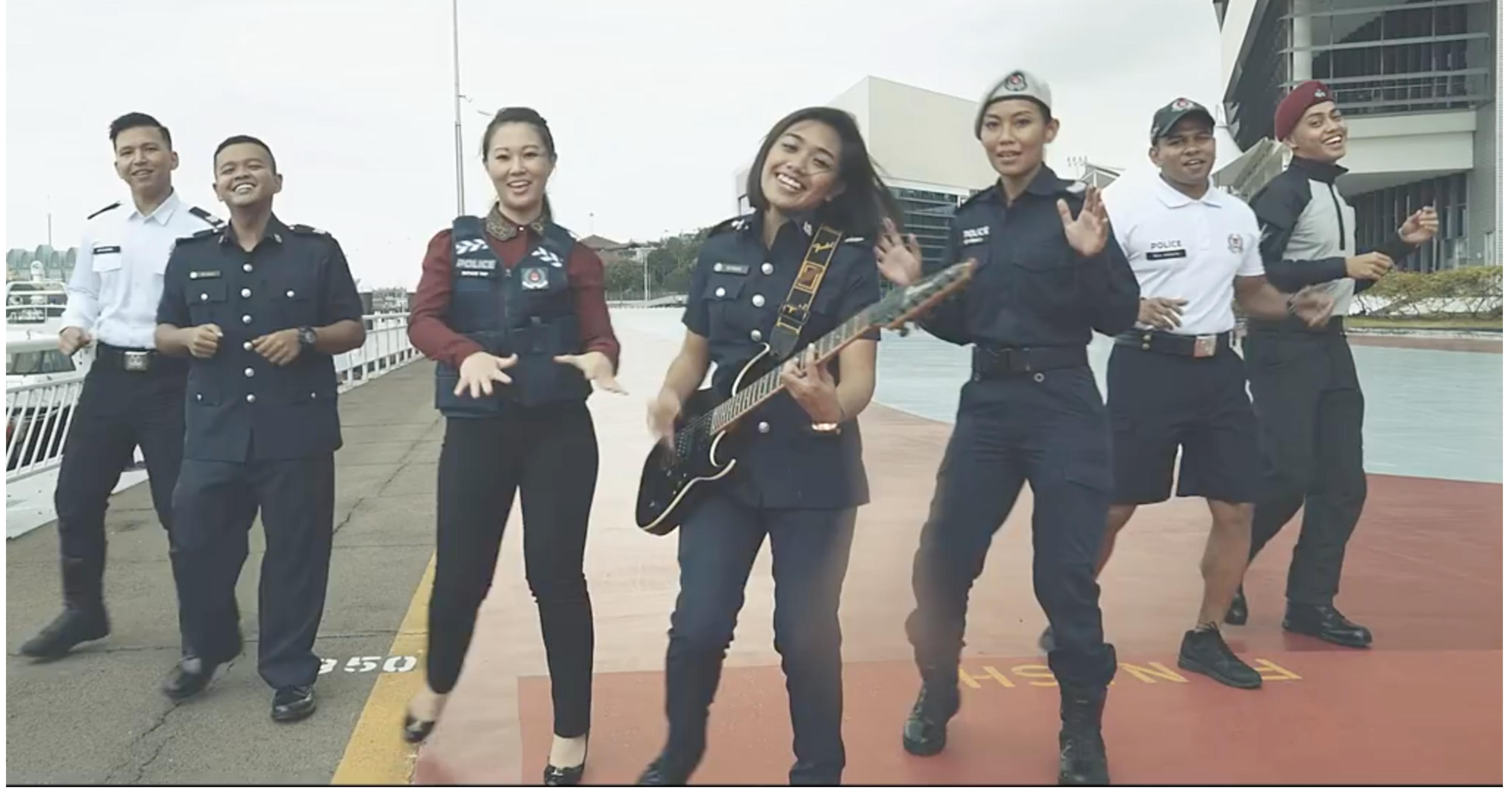 Singapore Police Force (SPF) have released a music video wishing all citizens Merry Christmas and a Happy New Year. Photo courtesy: Facebook page of SPF