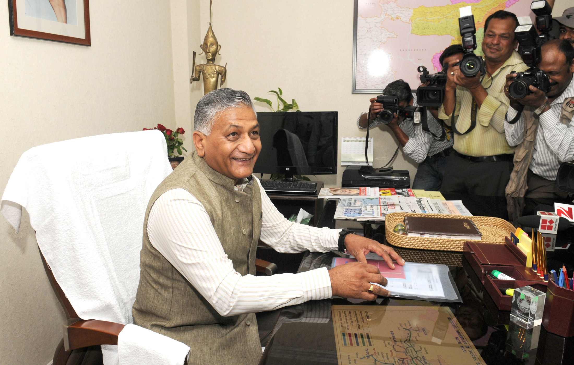 Indian Minister of State of External Affairs Gen.(Retd) V K Singh. Photo courtesy: Wikimedia