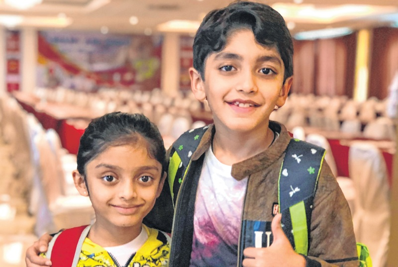Proud siblings Rajveer and Anaishaa won gold medal in Under-9 and silver medal in Under-7 age groups, respectively in the 35th Singapore National Open Age Group Chess Championship. Photo courtesy: freepress