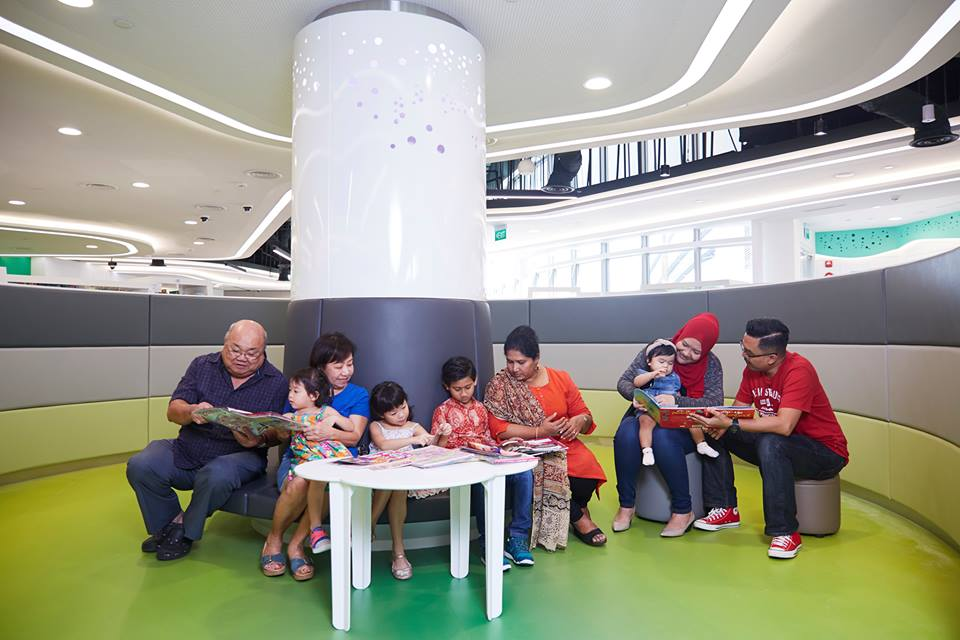 The new library@harbourfront is a place for families and patrons of all ages to discover, read and learn. Photo courtesy: Facebook page of  National Library Board