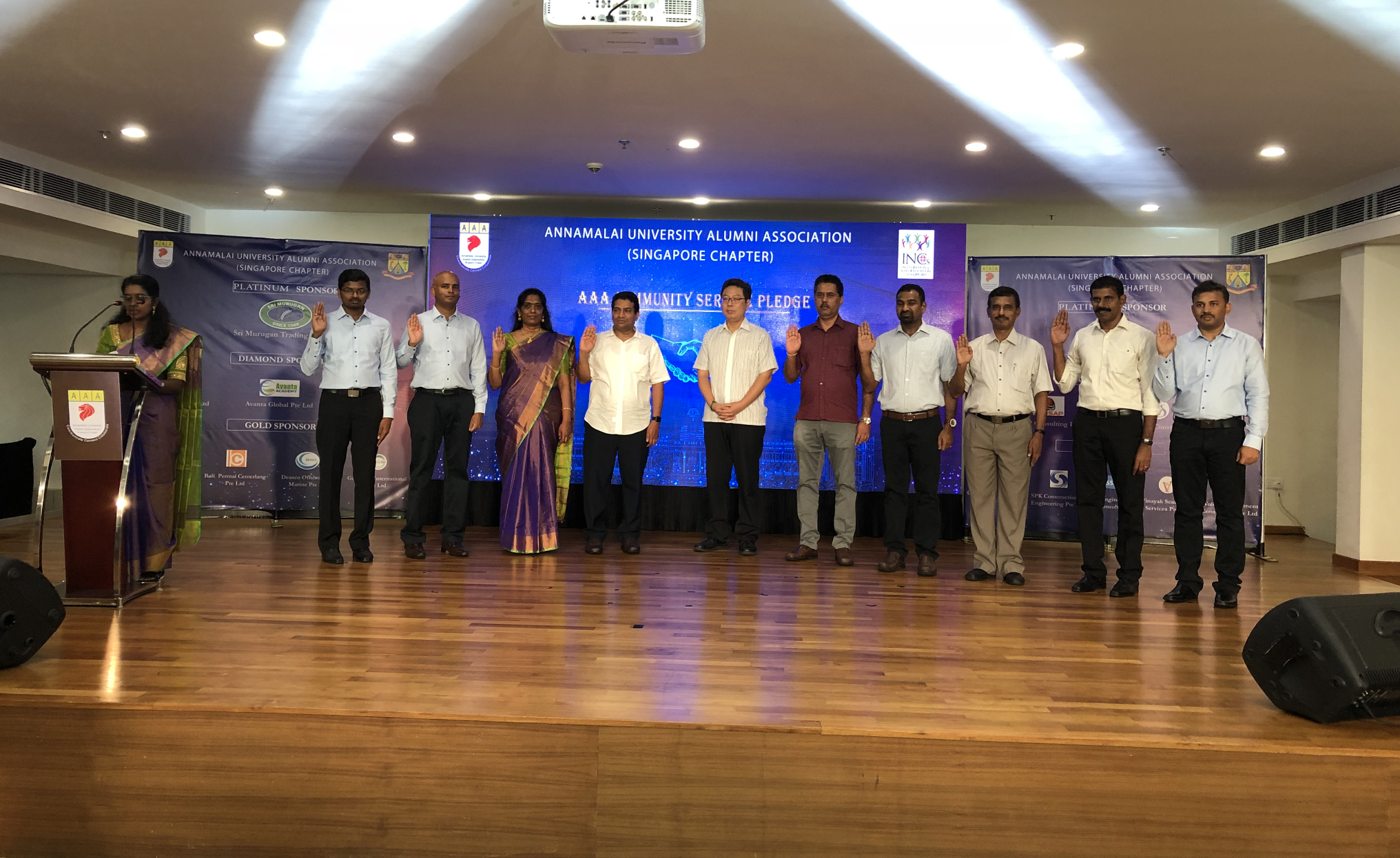 Members of the Annamalai University Alumni Association (AAA) pledged 1,000 hours of voluntary community service with the People's Association Integration Council. Photo: Connected to India