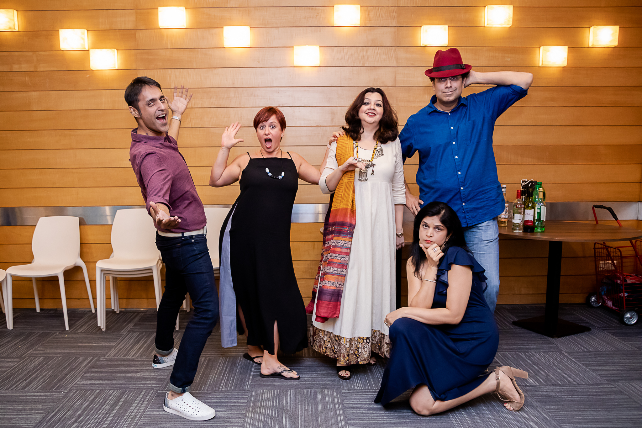 O'Hello (L to R) Neeraj Sujanani, Leah Fellstad, Sonali Mehta (Director), Shalima & Himanshu Motial