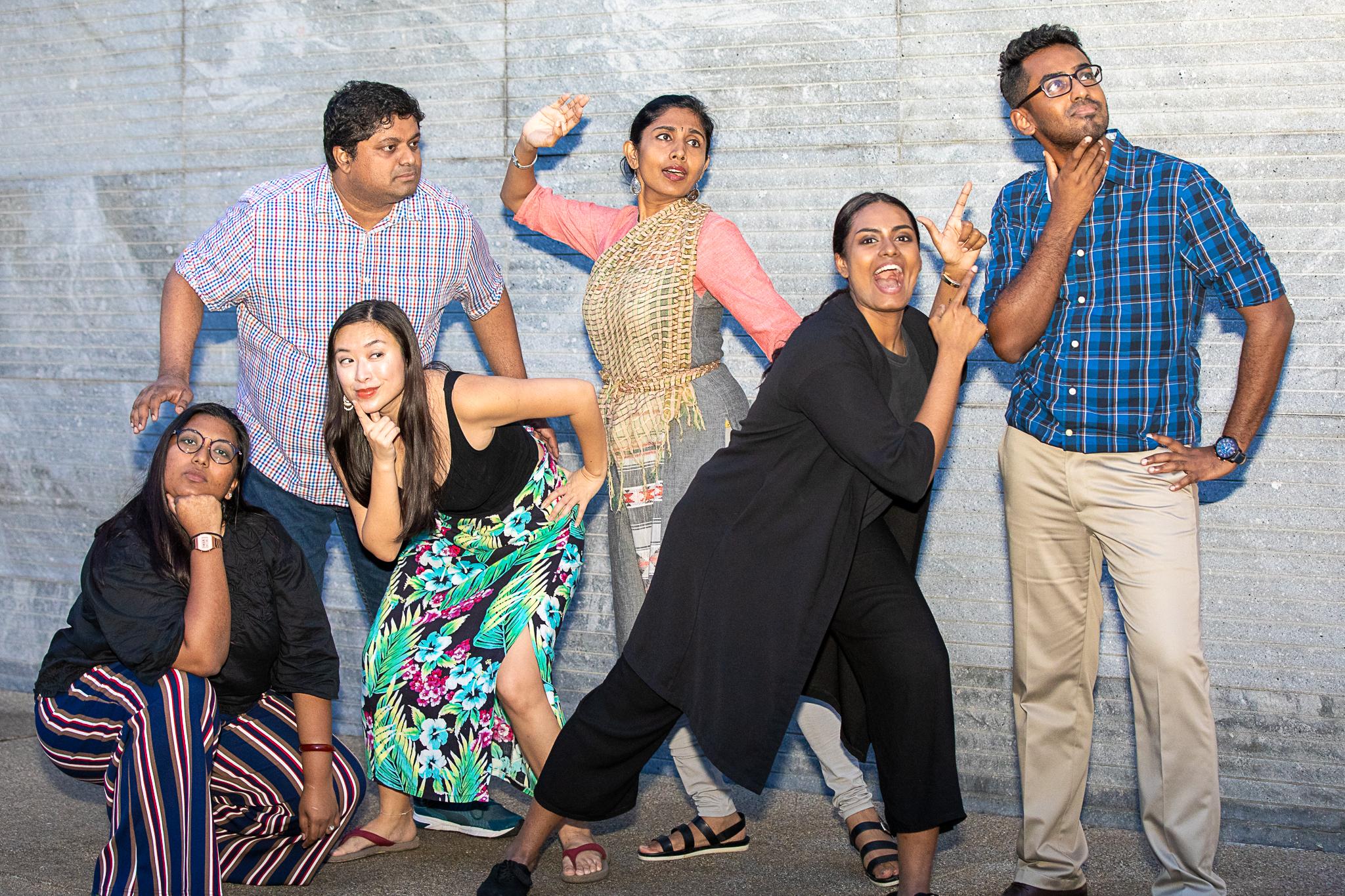 Puraan Residences (L to R) Pramila Pam, Hemang Yadav (director), Gillian Tan, Aiswarya Nair, Rebekah Sangeetha Dorai, Md Amin Md