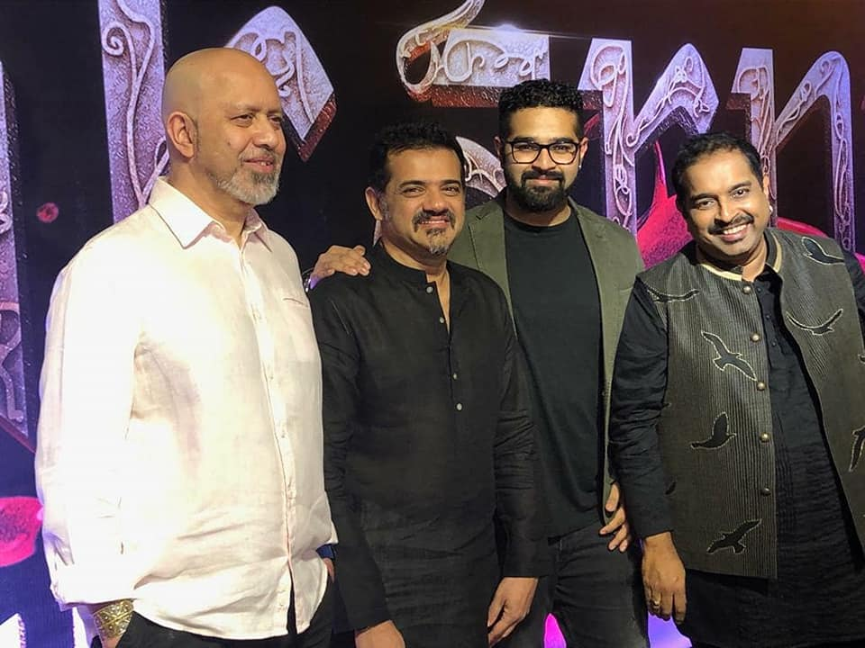 Shankar–Ehsaan–Loy at the Manikarnika music launch. Outstanding trio who full names are Shankar Mahadevan, Ehsaan Noorani and Loy Mendonsa Photo courtesy: Shankar Mahadevan FB Page